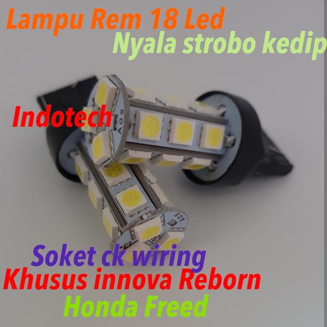 Lampu Led Rem Innova Reborn Dan Honda Freed 18 led Strobo Kedip