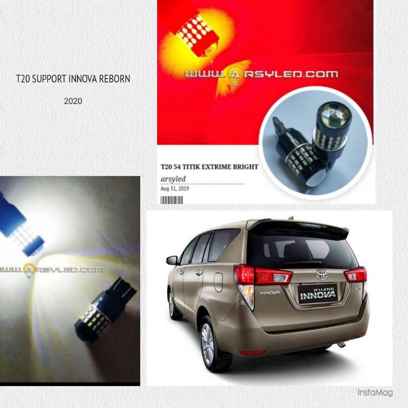 Lampu LED Senja / Rem Mobil Innova reborn T20 4 kawat 54 titik 4014